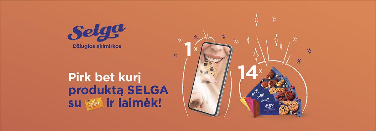 Pirk SELGA produktą su Maxima AČIŪ kortele ir laimėk